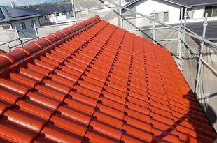 熊本県菊池市西寺 屋根吹付塗装工事の施工後画像