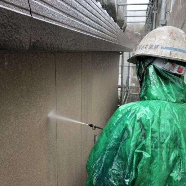 熊本県荒尾市住宅塗装・塗装前高圧洗浄工事