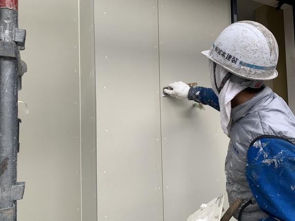 熊本市清水新規住宅塗装工事・下地処理
