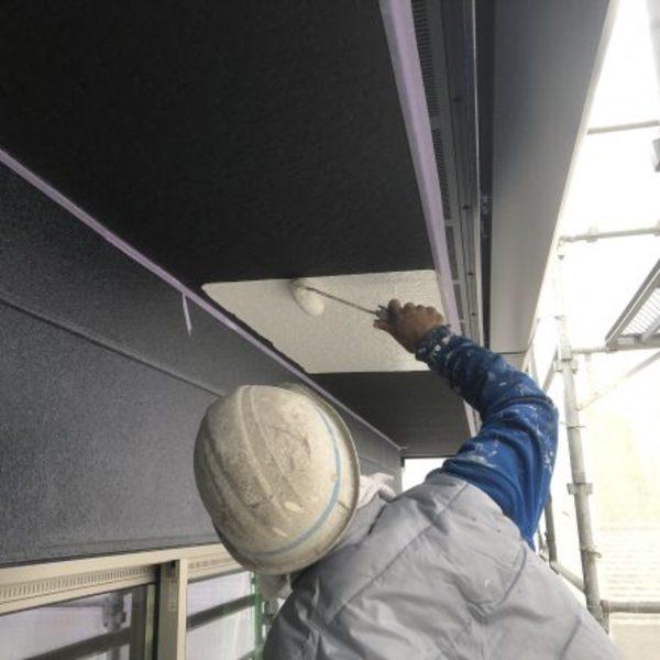 熊本県荒尾市住宅軒天井塗装・軒天井EP塗装工事