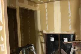 熊本県阿蘇市 新築内部木塗装工事 キシラデコール・クリア仕上げの施工前画像