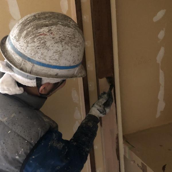 熊本県南阿蘇新築住宅・内部木部ステイン塗装工事