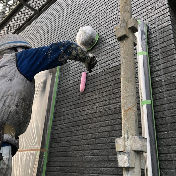 熊本市北区住宅塗装・外壁フッ素クリヤー塗装工事