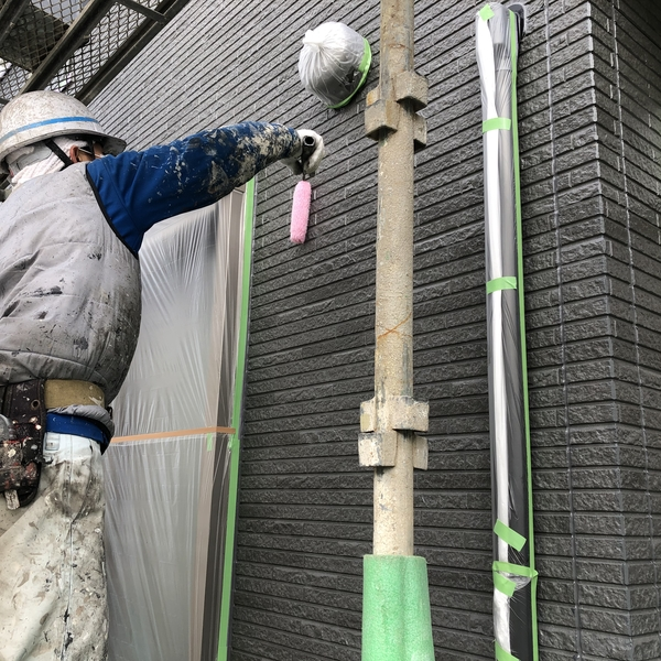 熊本市北区住宅塗装・外壁フッ素クリヤー塗装完了
