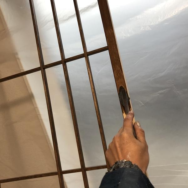 熊本県南阿蘇新築住宅・軒天井及び内部木部塗装工事