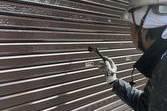 熊本県山鹿市鹿央町の住宅シャッターボックス作成後塗装工事
