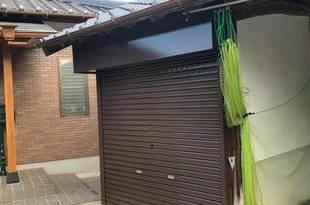 熊本県山鹿市鹿央町の住宅シャッターボックス作成後塗装工事の施工後画像