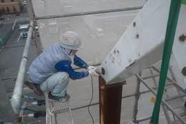 看板ポール塗装工事  熊本県菊池郡大津町の施工前画像