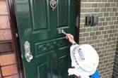 熊本は高平住宅でウッドデッキ&玄関柵・扉塗装工事を行いました。