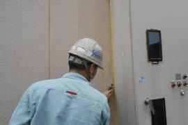 熊本地震被害外壁補修工事 お客様指定1日突貫工事(外壁塗装)の施工前画像