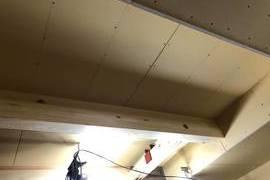 熊本県菊池市内部木部塗装工事 ウォルナット着色後クリア仕上げの施工前画像
