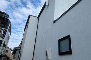 熊本県熊本市東区戸島 新築住宅補修塗装工事 弾性アクリル樹脂系多意匠装飾仕上塗材の施工後画像