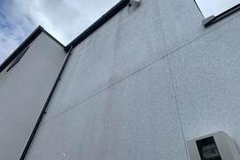 熊本県熊本市東区戸島 新築住宅補修塗装工事 弾性アクリル樹脂系多意匠装飾仕上塗材の施工前画像