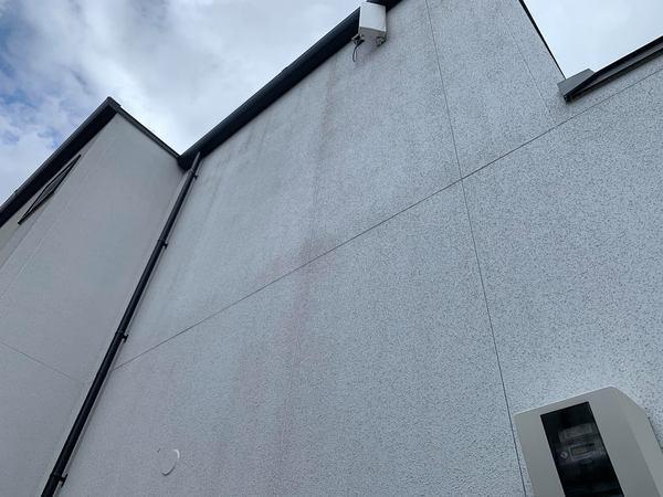 熊本県熊本市東区戸島 新築住宅補修塗装工事 弾性アクリル樹脂系多意匠装飾仕上塗材