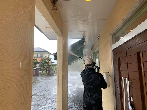 熊本市四方木外壁木部塗装・高圧水洗浄工事