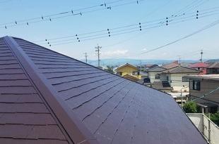 熊本県合志市須屋屋根塗装 地震被害平板スレート屋根補修専用 浸透型補修剤にて工事完了の施工後画像