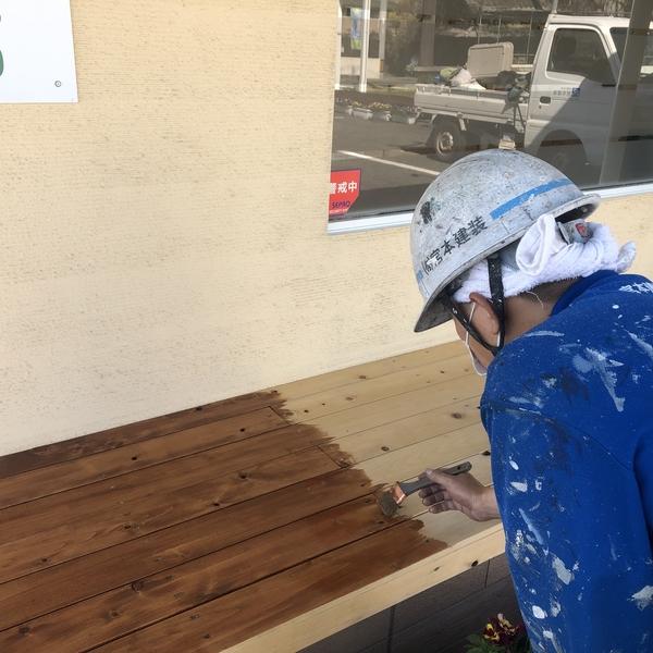 熊本市北区四方寄・外部木部塗装工事