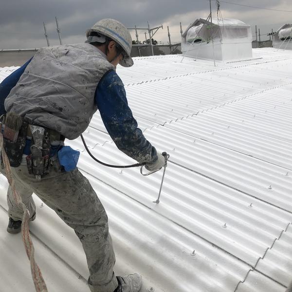 佐賀県工場屋根・遮熱塗装工事