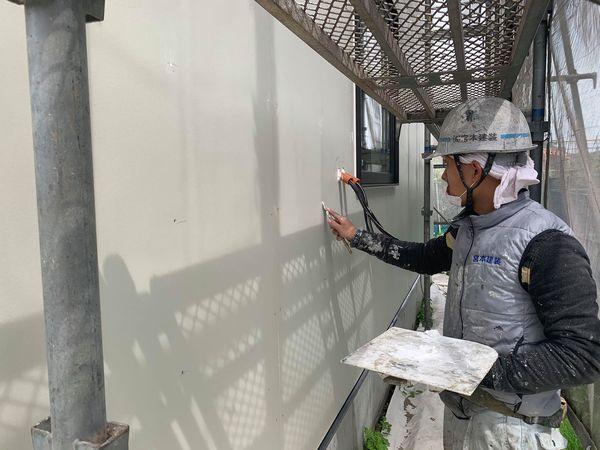 熊本市菊陽町外壁塗装・下地処理