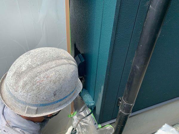 熊本市東区戸島外壁塗装追加工事・ローラー塗装