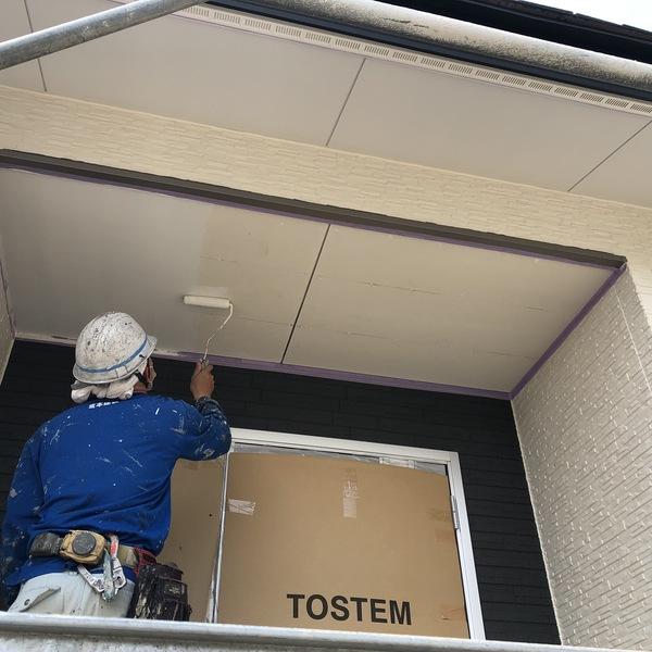 熊本市東区帯山新築軒天井塗装工事
