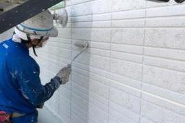 熊本県合志市 特殊柄付け外壁塗装工事の施工前画像