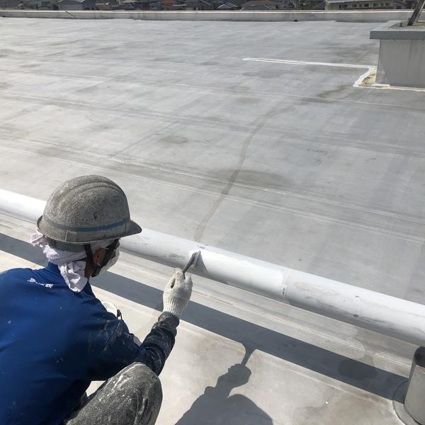 熊本市北区楠・マンション防水塗装工事