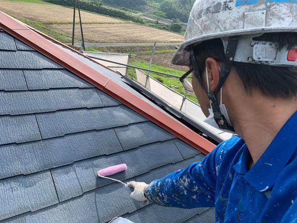 熊本県宇城市屋根外壁塗装・屋根下塗り