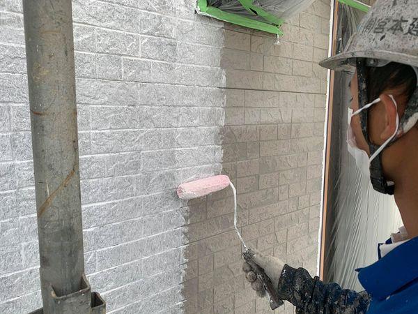 熊本県宇城市・外壁屋根塗装工事(外壁下塗り)