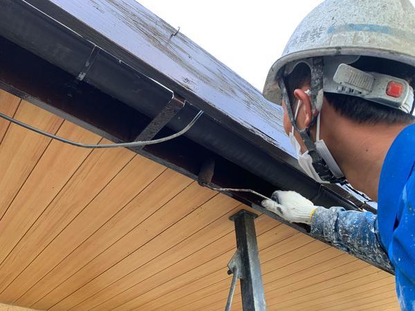 熊本市北区打越・破風塗装工事