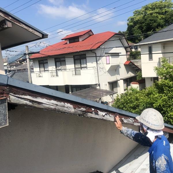 熊本市北区室園・破風塗装工事