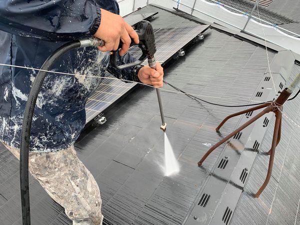 熊本市東区保田窪屋根塗装工事・高圧水洗浄