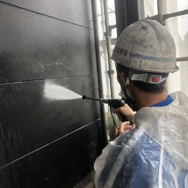 熊本市北区楠野町・外壁高圧水洗浄工事
