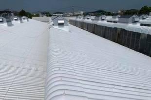 佐賀県 スレート屋根遮熱塗装工事・特殊塗装工事(工場屋根塗装3棟)の施工後画像