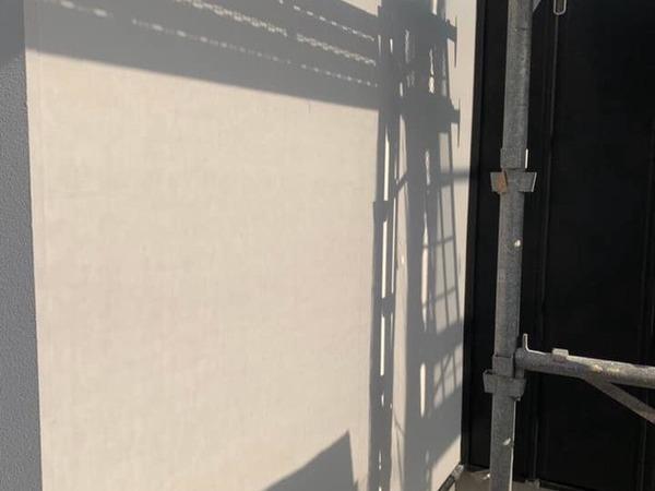 熊本市東区京塚 新築住宅 ベルアート柄付け外壁塗装工事(弾性)