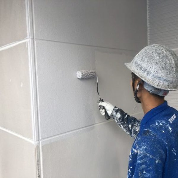 熊本県合志市・外壁塗装(下塗り)