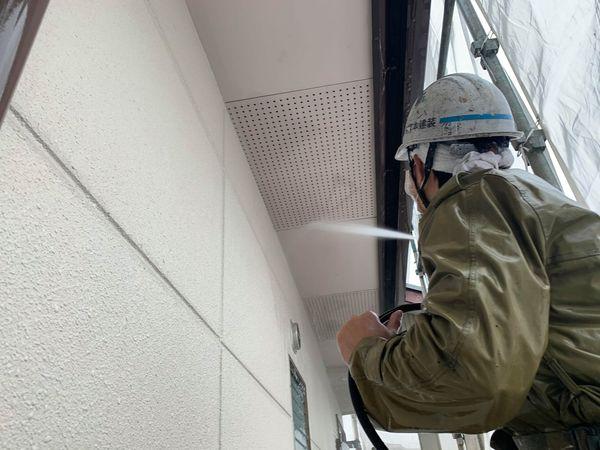 熊本市東区・外壁塗装工事・高圧水洗浄