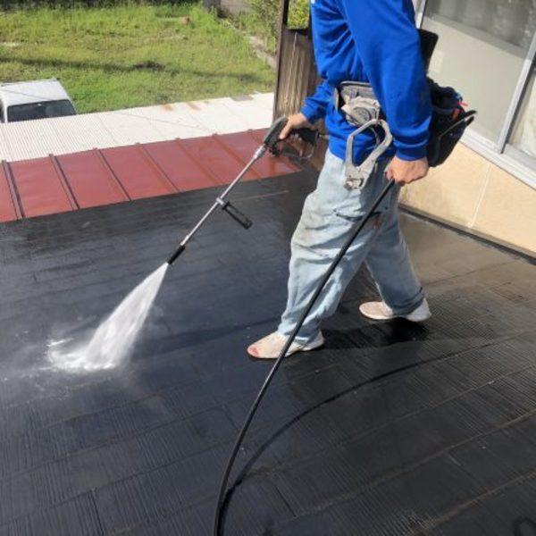 熊本県上益城郡・屋根塗装(高圧洗浄)