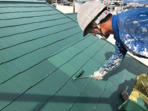熊本市北区・屋根塗装工事(水性シリコン)