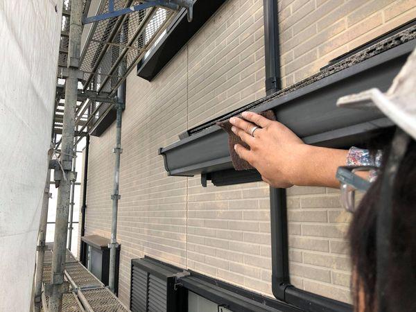 熊本県上益城郡御船町・外壁塗装工事・樋ケレン