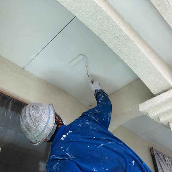 熊本市西区花園・外壁塗装・軒天井塗装