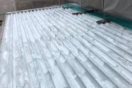 熊本県荒尾市 屋根塗装工事 (弱溶剤2液)の施工前画像