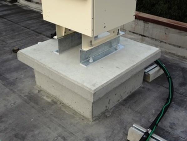 熊本市北部ビル屋上防水 設備架台防水工事調査