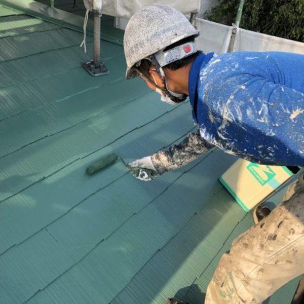 熊本市北区・屋根塗装(下屋根塗装工事)