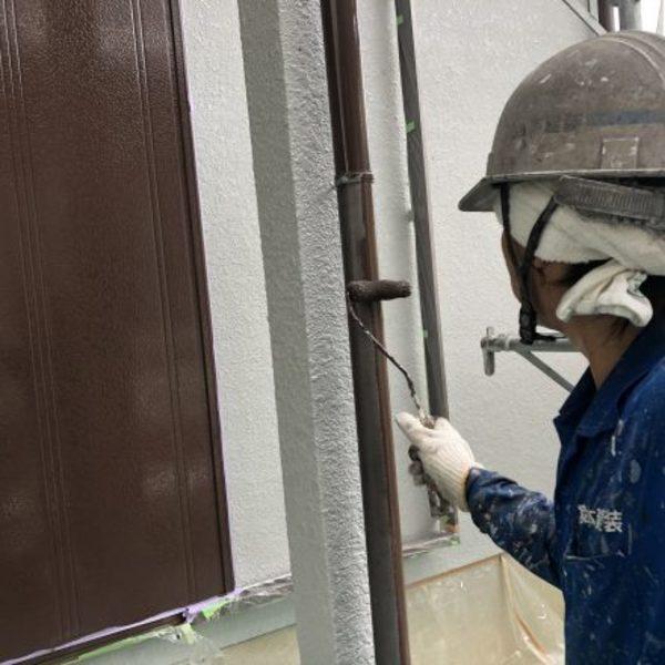 熊本市西区花園・外壁塗装(樋塗装)