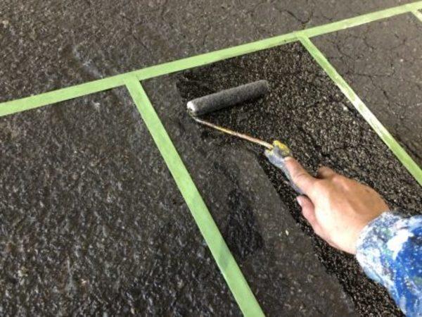 熊本県八代市・土間塗装(横断塗装)