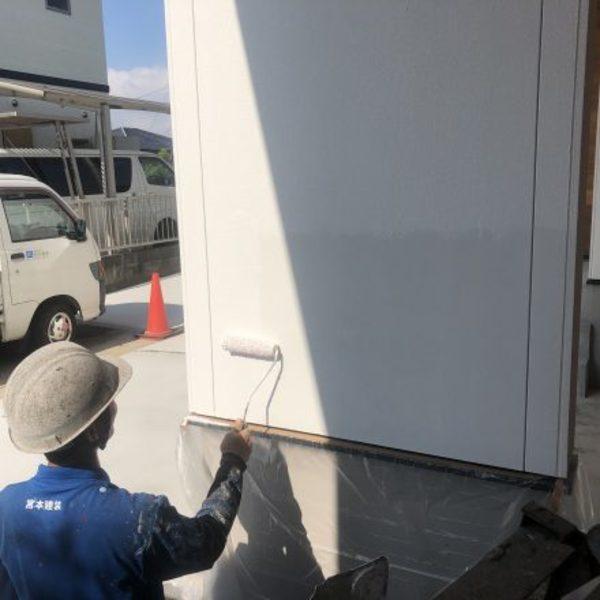 熊本市北区・外壁塗装(上塗り)