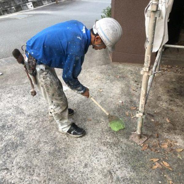 熊本市北区・外壁塗装(手直し、清掃)
