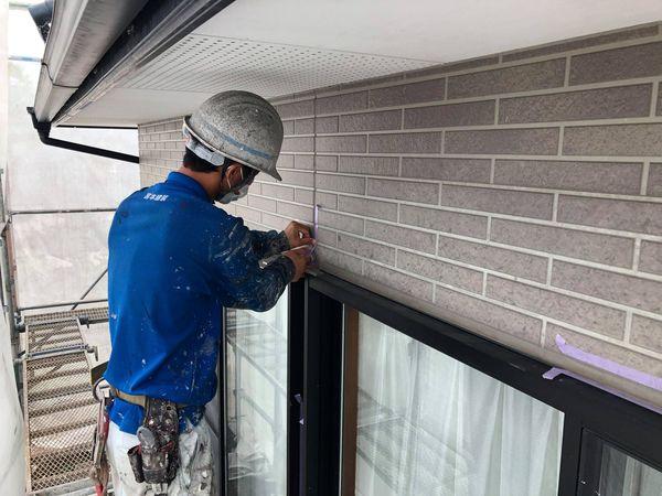熊本県上益城郡御船町・外壁塗装・養生作業