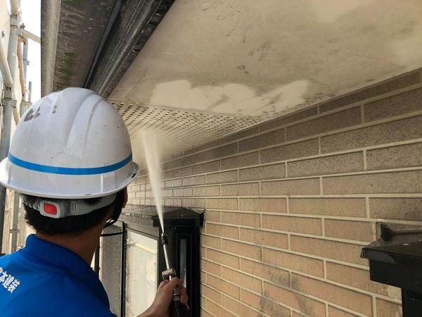 上益城郡御船町・外壁塗装・高圧水洗浄